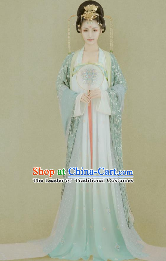 Traditional Chinese Tang Dynasty Imperial Concubine Embroidered Costume Ancient Palace Lady Dress for Women