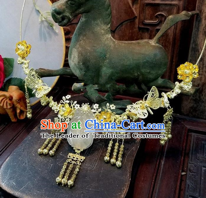Asian Chinese Traditional Handmade Jewelry Accessories Jade Necklace for Women