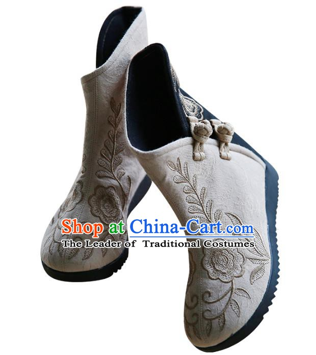 Traditional Chinese Shoes Kung Fu Boots Wushu Shoes Hanfu Shoes Embroidered Shoes