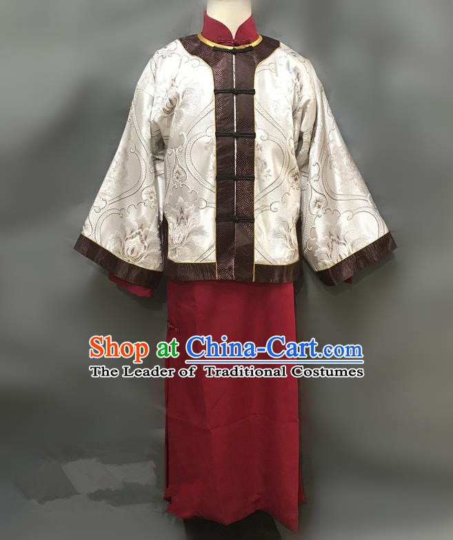 Traditional Chinese Stage Performance Costume Ancient Qing Dynasty Nobility Childe Clothing for Men
