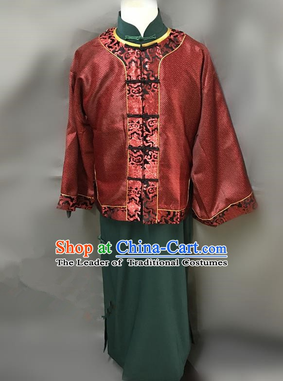 Traditional Chinese Stage Performance Costume Ancient Qing Dynasty Nobility Master Clothing for Men