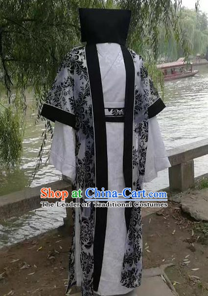 Traditional Chinese Stage Performance Costume Ancient Song Dynasty Ministry Councillor Clothing for Men