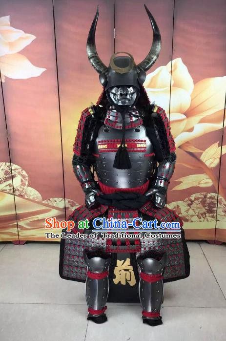 Traditional Chinese Stage Performance Costume Ancient Warrior Helmet and Armour