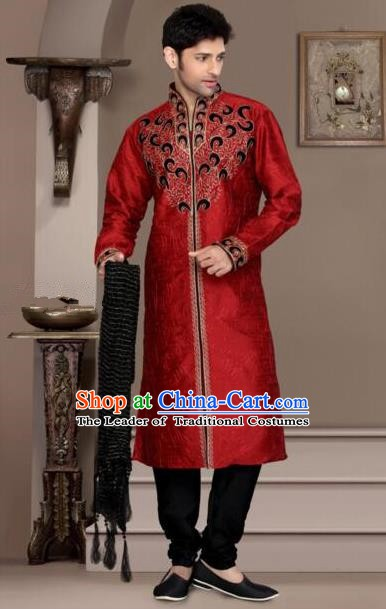 Traditional Asian India Stage Performance Costume Hindustan Indian Prince National Clothing for Men