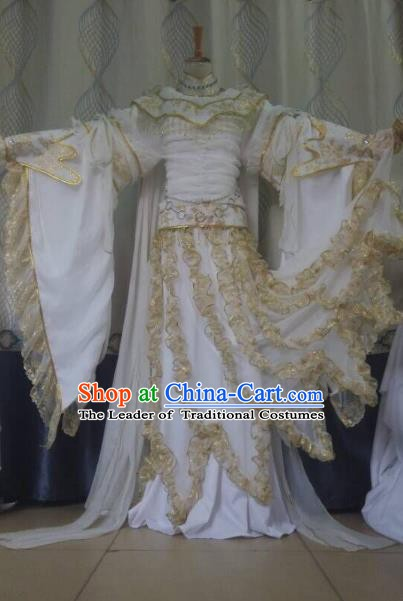 Traditional China Ancient Cosplay Fairy Costume Princess Hanfu Dress Clothing for Women