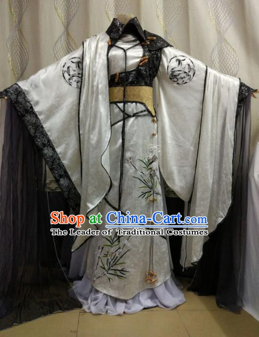China Ancient Cosplay Swordsman Costume Royal Highness Knight Fancy Dress for Men