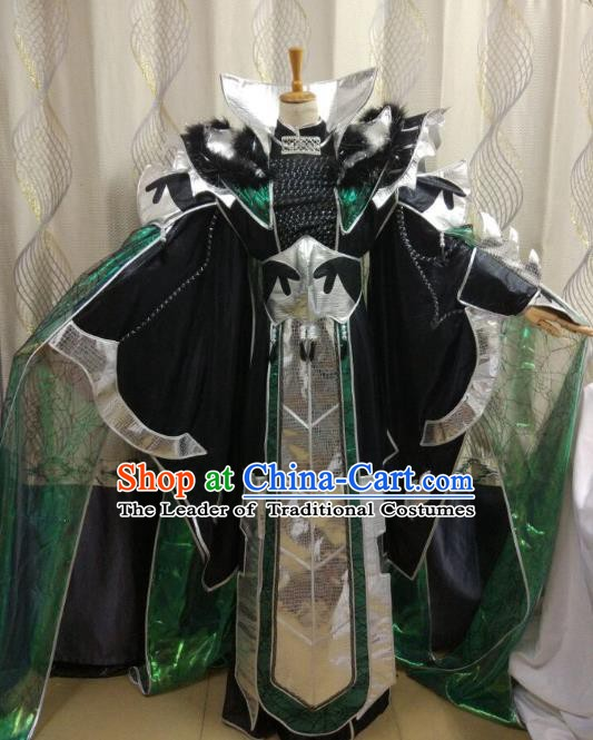 China Ancient Cosplay Swordsman Costume General Knight Fancy Dress for Men