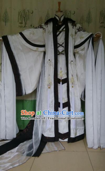 Traditional China Ancient Cosplay Royal Highness Costume Swordsman Clothing for Men