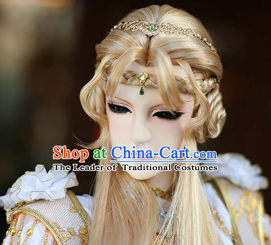 Traditional China Ancient Cosplay Prince Hair Accessories Wig and Headwear for Men