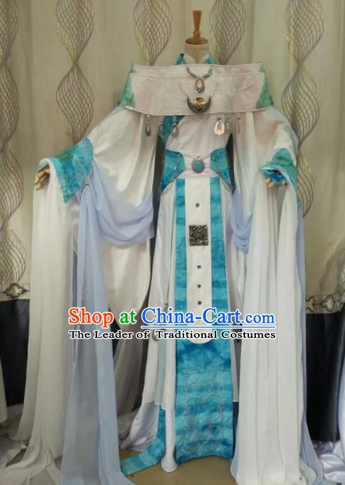 China Ancient Cosplay Halloween Queen Costume Traditional Palace Lady Hanfu Dress for Women