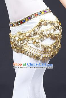 Traditional Asian Indian Belly Dance Waist Accessories White Waistband India National Dance Belts for Women