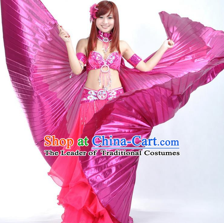 Asian Indian Belly Dance Prop Rosy Wings India National Stage Performance Large Wing for Women