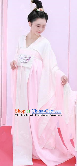 Asian Chinese Ancient Tang Dynasty Palace Lady Costume and Headpiece Complete Set for Women