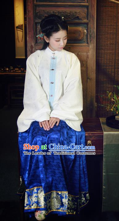 China Ancient Princess Costume Ming Dynasty Palace Lady Blouse and Horse-face Skirts for Women
