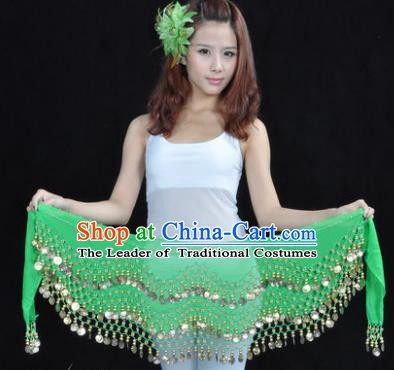 Asian Indian Belly Dance Waist Accessories Green Waistband India Raks Sharki Belts for Women