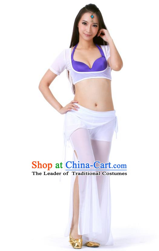 Asian Indian Belly Dance White Uniform India Raks Sharki Dress Oriental Dance Clothing for Women