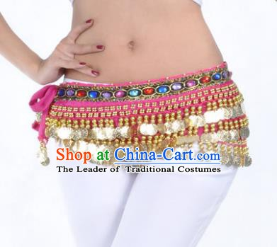 Asian Indian Traditional Belly Dance Rosy Belts Waistband India Raks Sharki Waist Accessories for Women