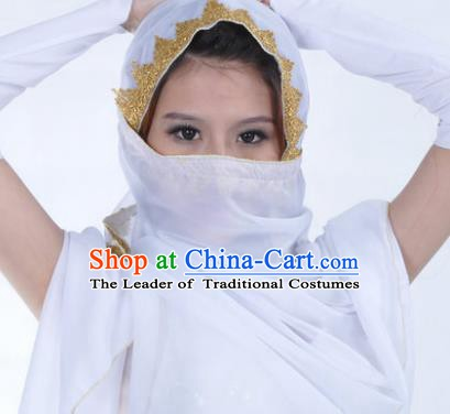 Asian Indian Belly Dance Accessories Yashmak India Traditional Dance White Veil for for Women