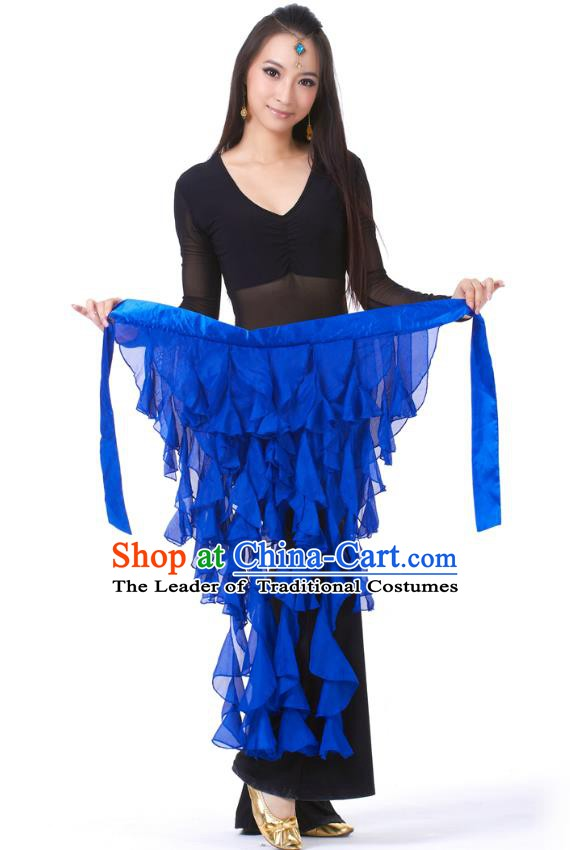 Indian Traditional Belly Dance Belts Royalblue Hip Scarf Waistband India Raks Sharki Waist Accessories for Women
