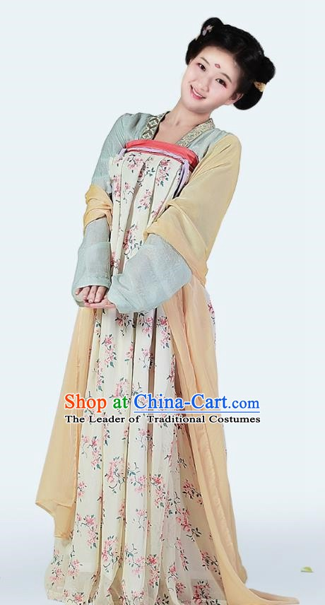China Ancient Tang Dynasty Princess Hanfu Dress Costume for Women
