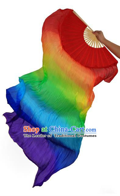 Traditional Chinese Dance Fans China Folk Dance Silk Folding Fans for Women