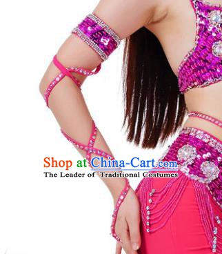 Indian Belly Dance Rosy Sleevelet India Raks Sharki Accessories Wristlet for Women