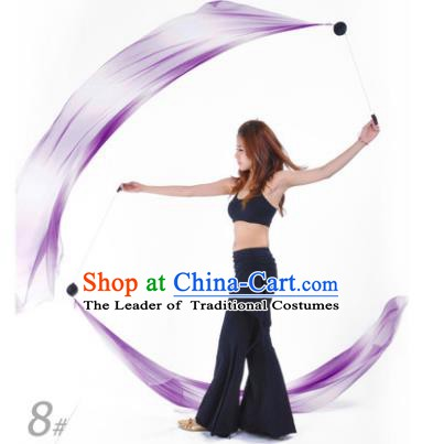 Indian Belly Dance Props India Raks Sharki Accessories Gradient Purple Ribbons for Women