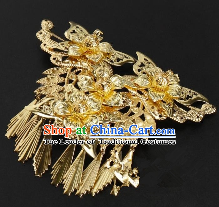 Chinese Handmade Classical Hair Accessories Ancient Palace Lady Wedding Hairpins Headwear for Women