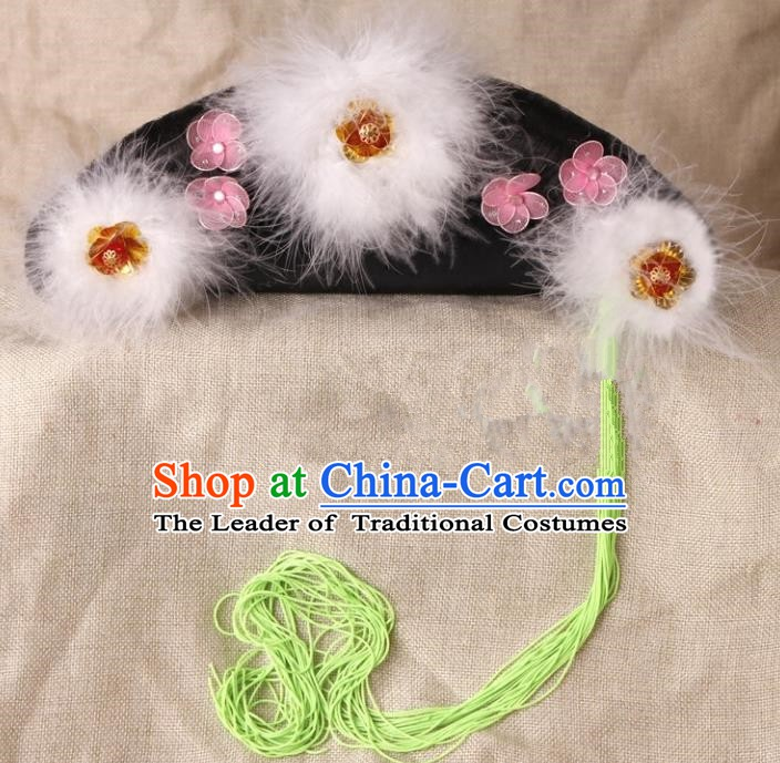 Chinese Handmade Classical Qing Dynasty Palace Lady Hair Accessories Ancient Manchu Princess Headwear Hairpins for Kids