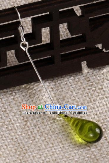 Chinese Handmade Classical Earrings Accessories Ancient Princess Eardrop for Women