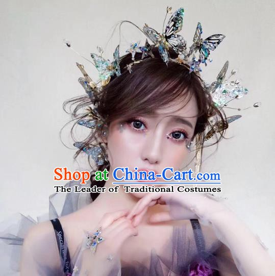 Handmade Classical Wedding Hair Accessories Bride Butterfly Hair Clasp Headband for Women