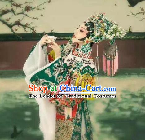 Traditional Chinese Beijing Opera Costume, China Peking Opera Imperial Concubine Embroidered Clothing