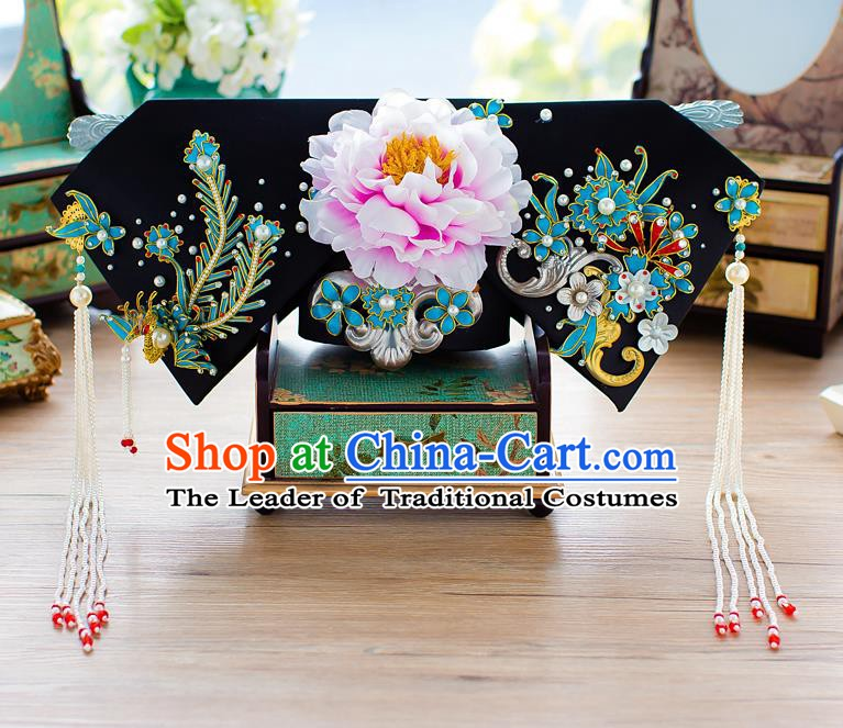 Chinese Handmade Classical Qing Dynasty Hair Accessories Ancient Hairpins Headdress for Women