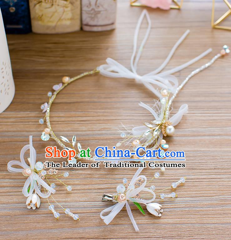 Handmade Classical Wedding Hair Accessories Bride Headwear Hair Clasp Hair Stick for Women