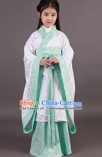 Traditional China Han Dynasty Ancient Palace Princess Hanfu Clothing for Kids