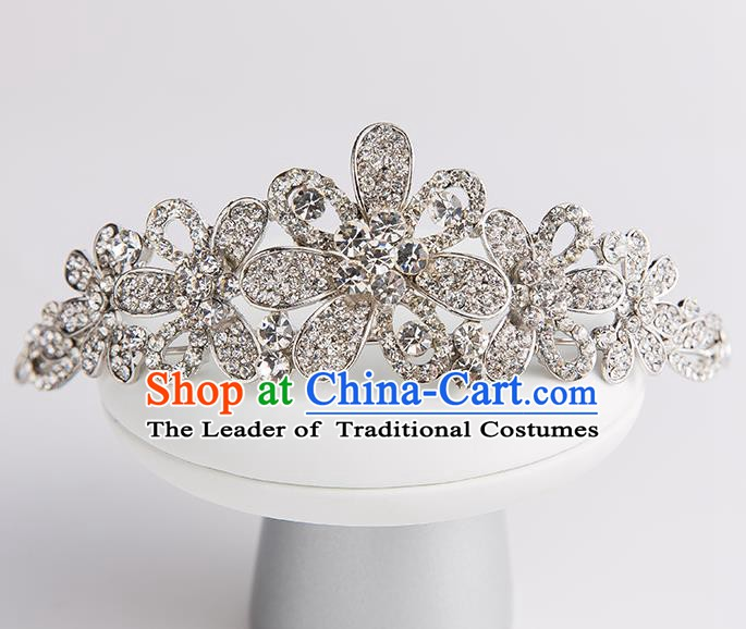 Handmade Classical Wedding Hair Accessories Bride Crystal Hair Clasp Headwear for Women