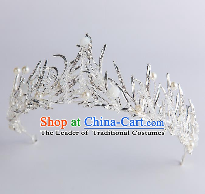 Handmade Classical Hair Accessories Crystal Royal Crown Baroque Princess Headwear for Women