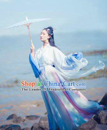 China Ancient Jin Dynasty Palace Lady Costume Traditional Chinese Princess Dress Clothing for Women