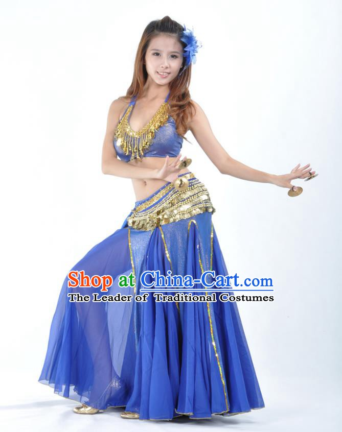fd6f0809f854 Traditional Indian Bollywood Belly Dance Royalblue Dress Asian India  Oriental Dance Costume for Women