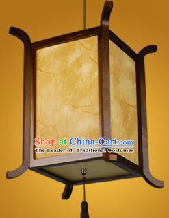 Chinese Classical Handmade Wood Palace Lanterns Parchment Hanging Lantern Ancient Ceiling Lamp