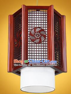 Chinese Classical Handmade Wood Palace Lanterns Hanging Lantern Ancient Ceiling Lamp