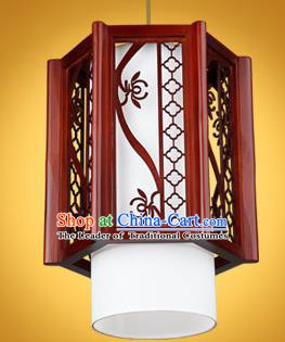 Chinese Classical Handmade Wood Lotus Palace Lanterns Hanging Lantern Ancient Ceiling Lamp