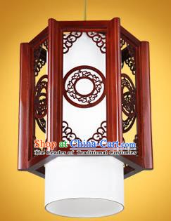 Chinese Classical Handmade Wood Carving Palace Lanterns Hanging Lantern Ancient Ceiling Lamp
