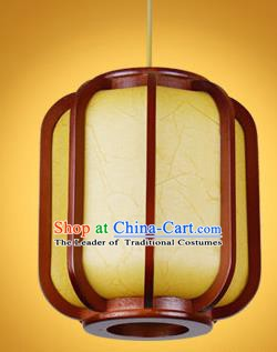 Chinese Classical Handmade Pumpkin Palace Lanterns Wood Hanging Lantern Ancient Ceiling Lamp