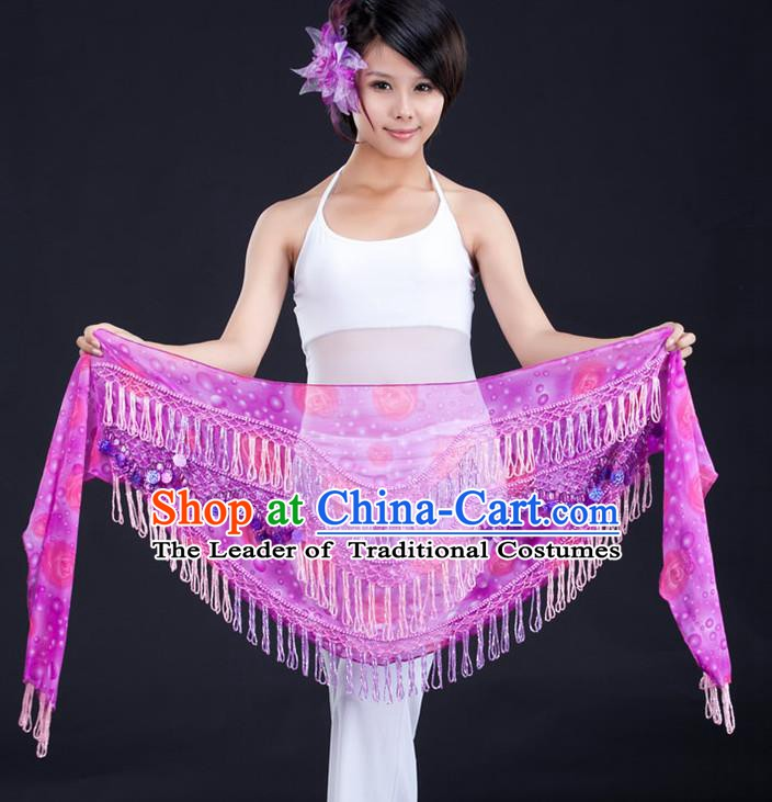 Indian Belly Dance Silk Waist Scarf Waistband India Raks Sharki Belts for Women