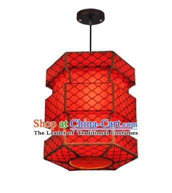 Traditional Chinese Red Parchment Palace Lanterns Handmade Hanging Lantern Ancient Ceiling Lamp