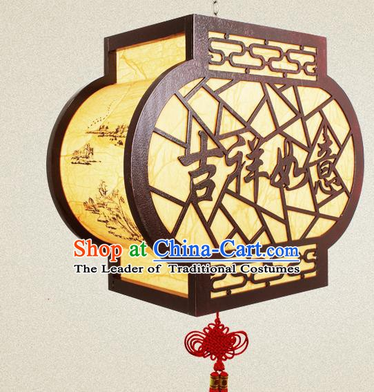 Traditional Chinese Parchment Palace Lanterns Handmade New Year Hanging Lantern Ancient Ceiling Lamp