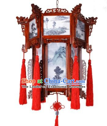 Traditional Chinese Wedding Palace Lanterns Handmade Hanging Lantern Ancient Ceiling Lamp