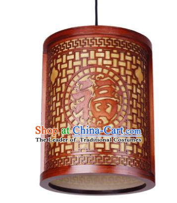 Traditional Chinese Wood Carving Hanging Palace Lanterns Handmade Lantern Ancient Ceiling Lamp