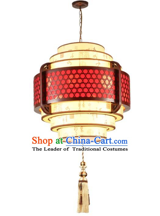 Traditional Chinese Parchment Hanging Palace Lanterns Handmade Wood Lantern Ancient Ceiling Lamp